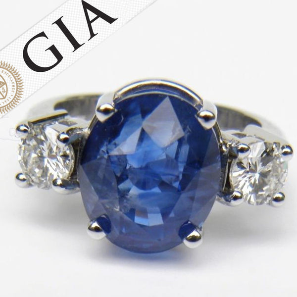 antique blue cornflower rings style ring sapphire