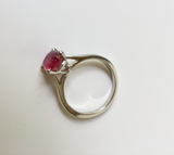 2.48ct Estate Ruby Engagement Solitaire Ring Platinum/ Untreated Certified