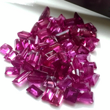 17.10ct Extra Fine Natural Untreated Madagascar Ruby Red Emerald Cut Lot Parcel