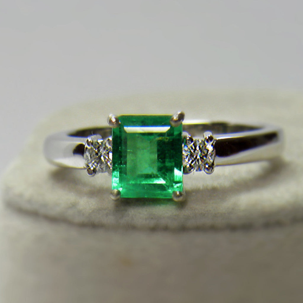 1 00ct Aaa Fine Natural Colombian Emerald Engagement