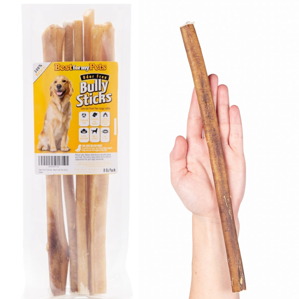 12-Inch Odor-Free Bully Sticks, 8-Ounce Bag