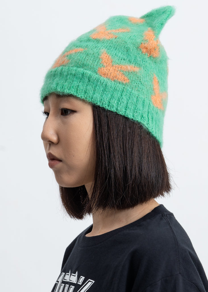 Mint And Orange Peace Cat Hat