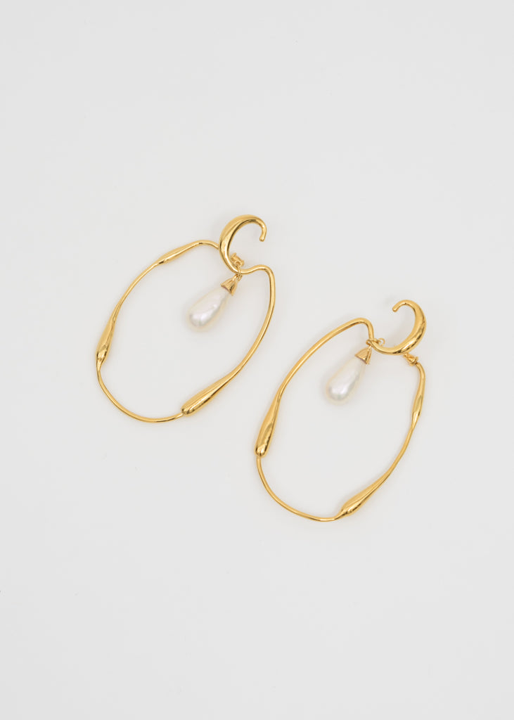 Ambush, Gold Sculpture Earring (Pair), 017 Shop