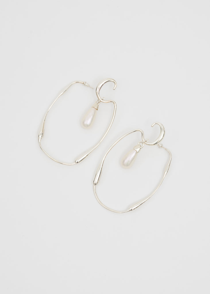 Silver Sculpture Earring (Pair)