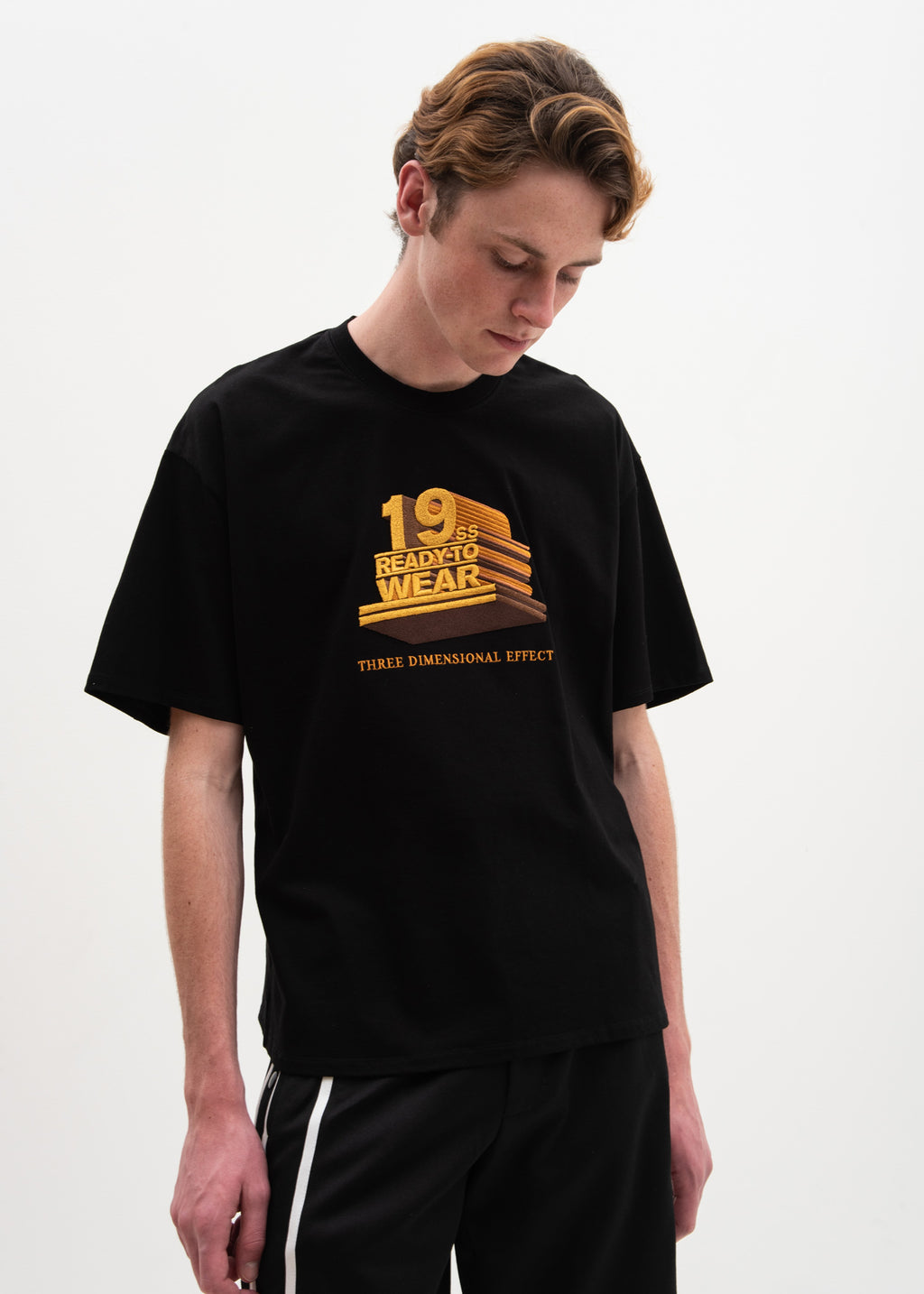 "Doublet, Black ""19SS"" 3D Embroidery T-Shirt, 017 Shop"