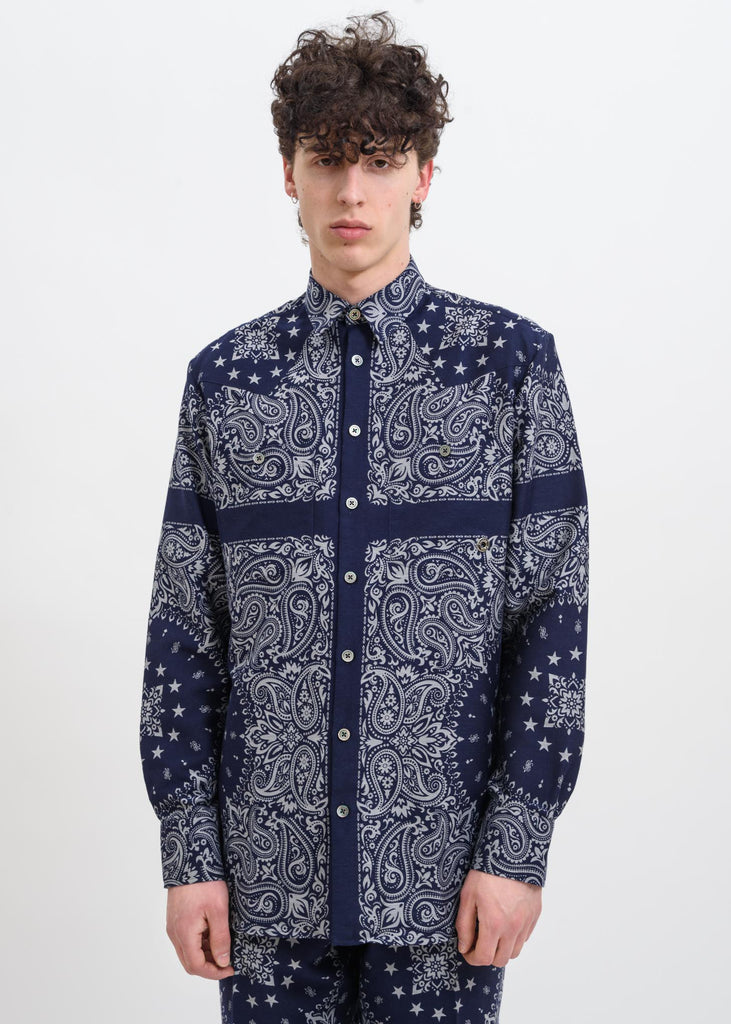 Etudes, Blue Nevada Bandana Shirt, 017 Shop
