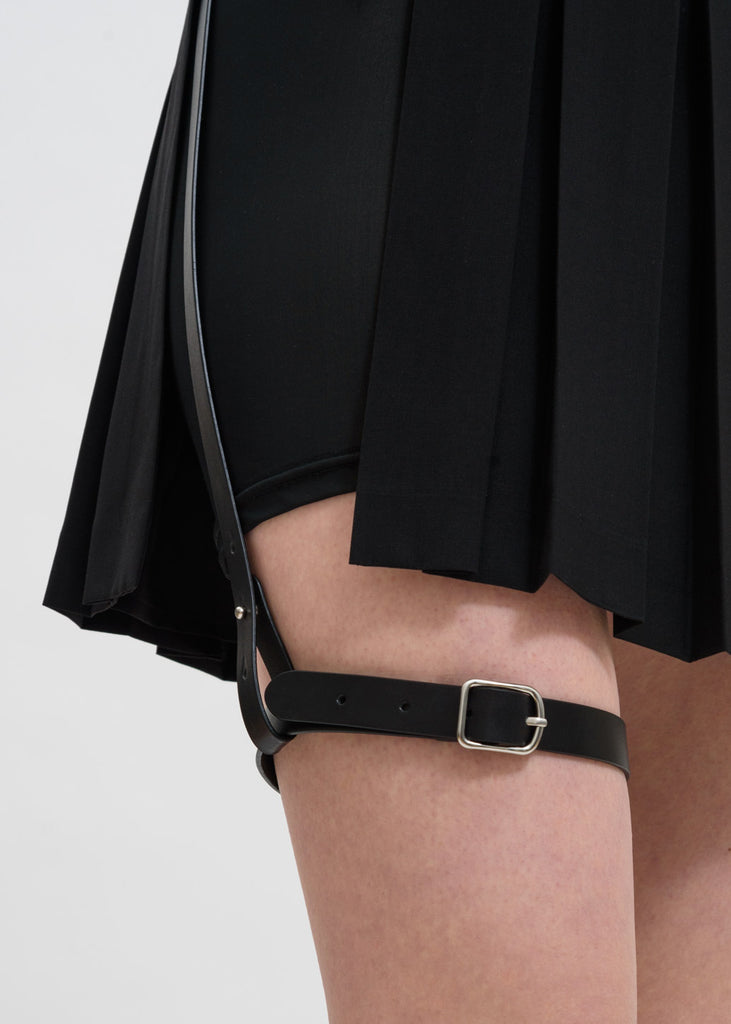 Black Pleated Skirt w/ Garter Belt