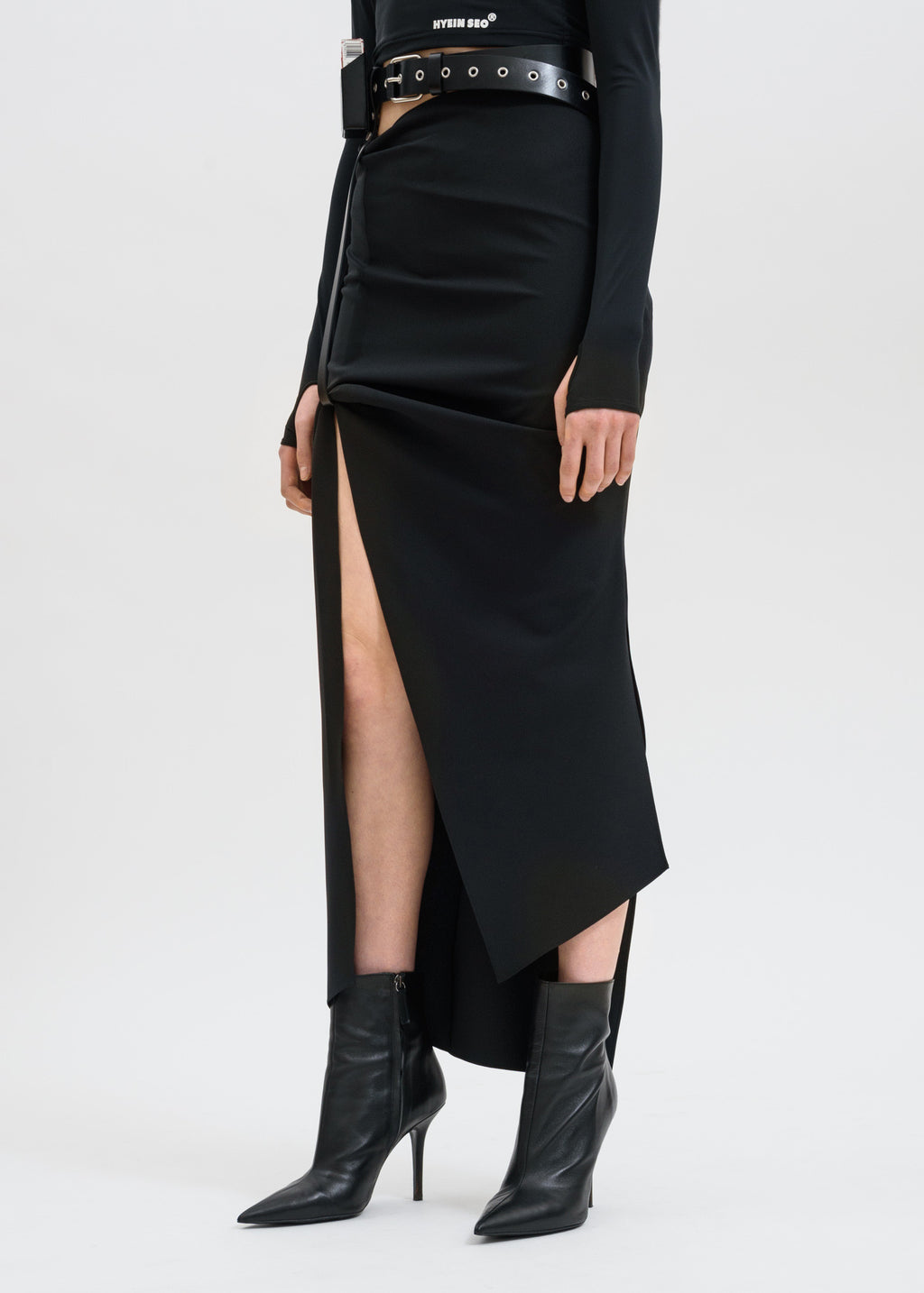 Black Skirt w/ Leather Belt