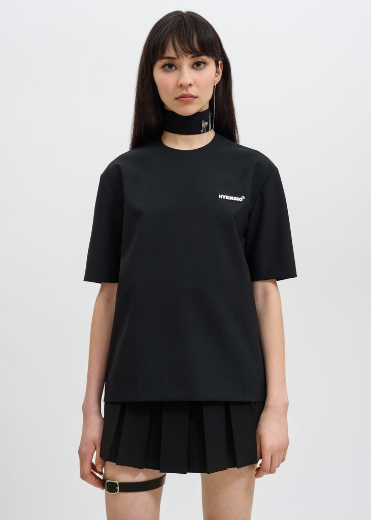 Wool T-Shirt w/ Choker Earring
