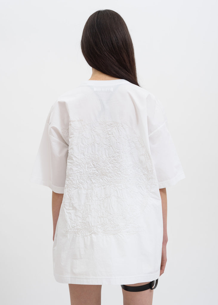 White Embroidered Oversize T-Shirt