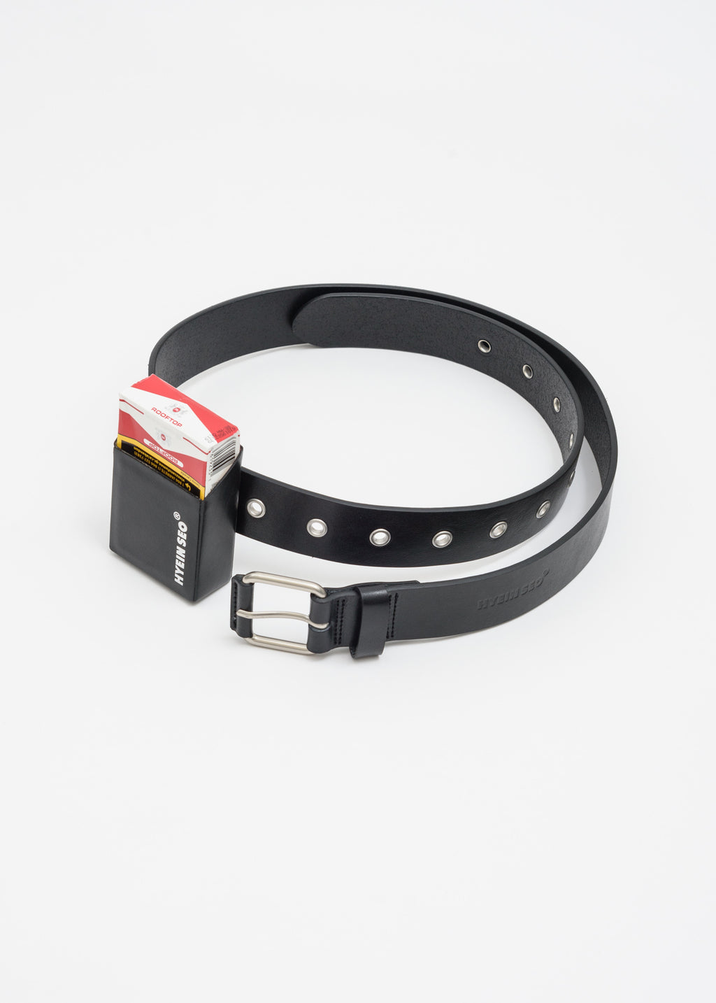 Leather Belt w/ Cigarette Holder