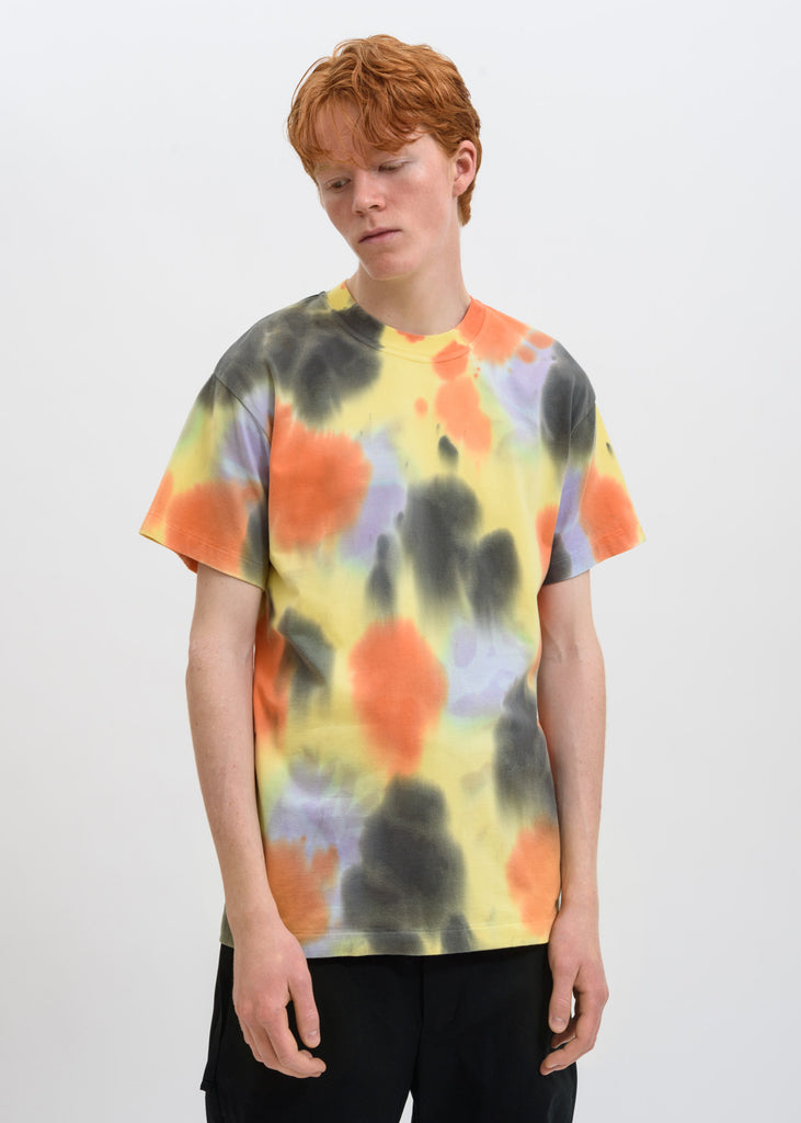 Ambush, Yellow Waves Tie Dye T-Shirt, 017 Shop