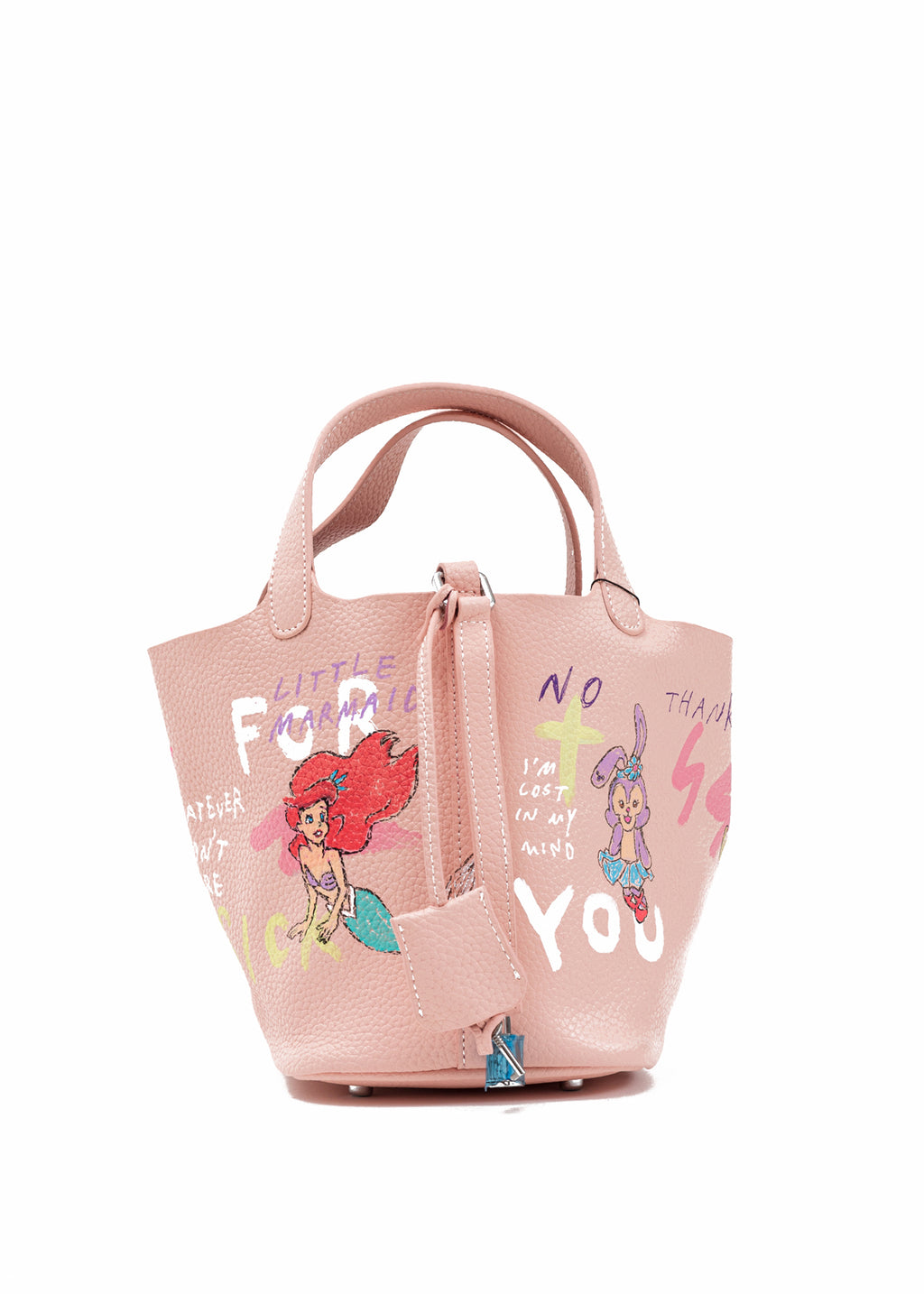 Pink Paint Cube Bag (Small) -Snow White,Little Mermaid (Pre-Order)