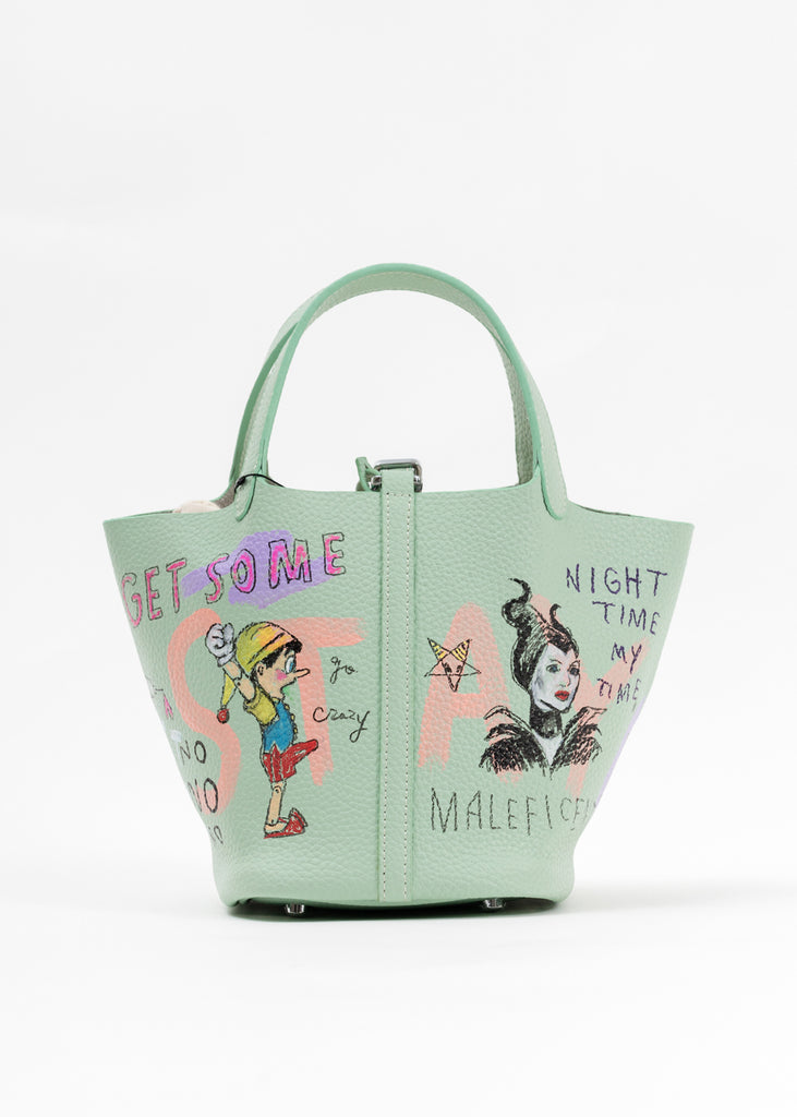 Green Paint Cube Bag (Small) -Snow White,Maleficent