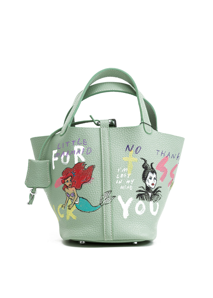Green Paint Cube Bag (Small) -Snow White,Little Mermaid,Maleficent