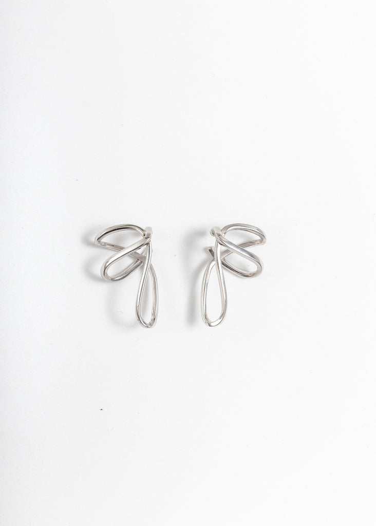 Silver Space Warp Ear Cuff