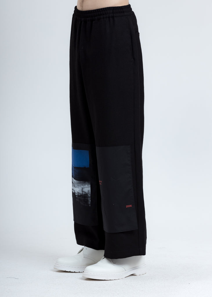 Black Patchwork Trousers