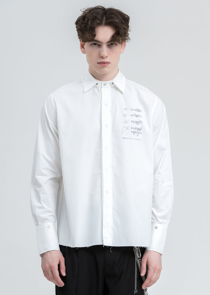 White Detachable Layered Shirt