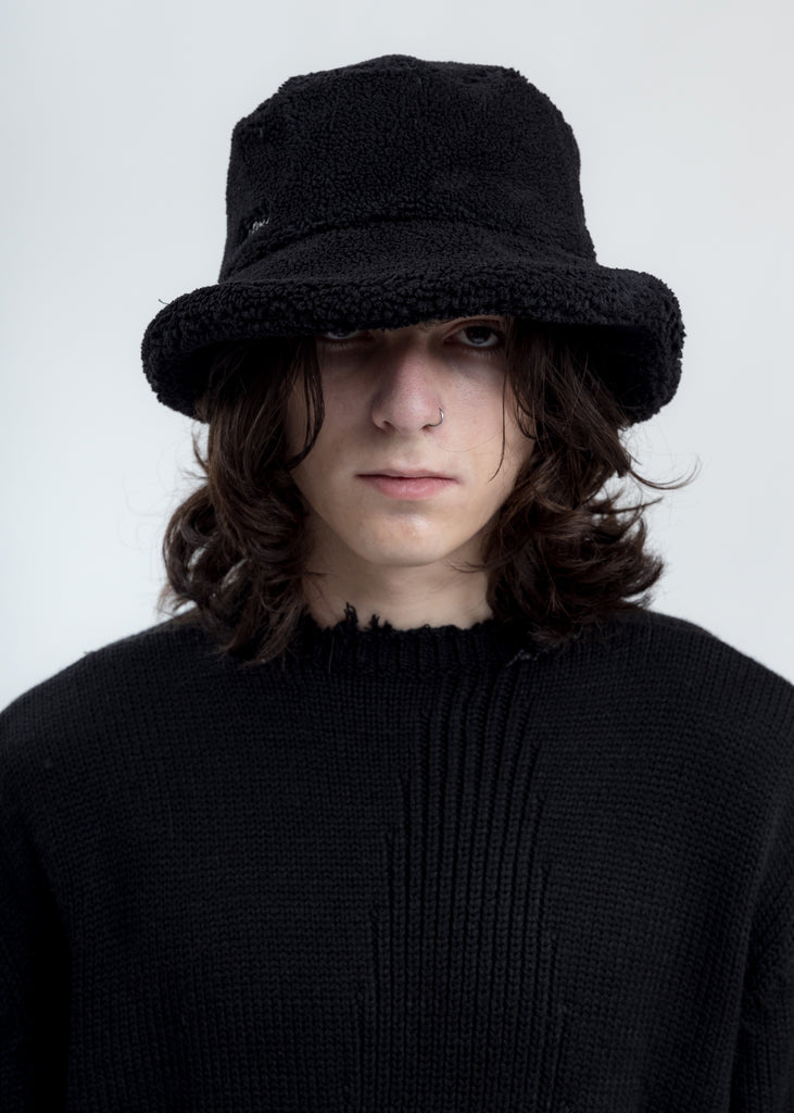 Black Fleece Bucket Hat