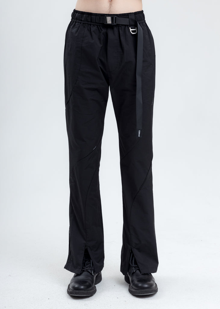 Black Intervein Paneled Track Pants
