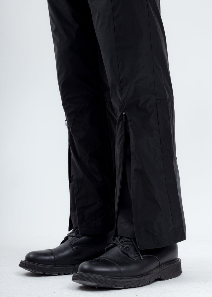 Black Layered Track Pants