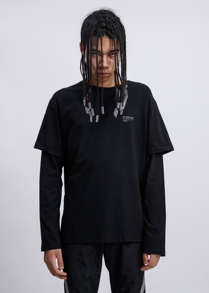 Black Double Layered Long Sleeves