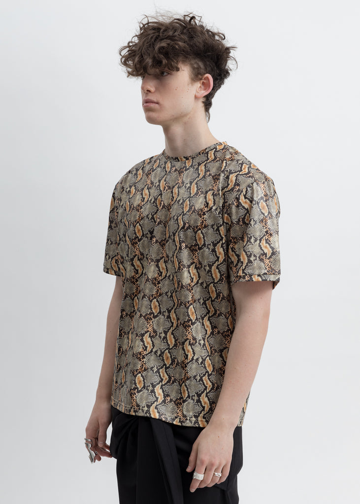 Beige And Black Snake Aries T-Shirt