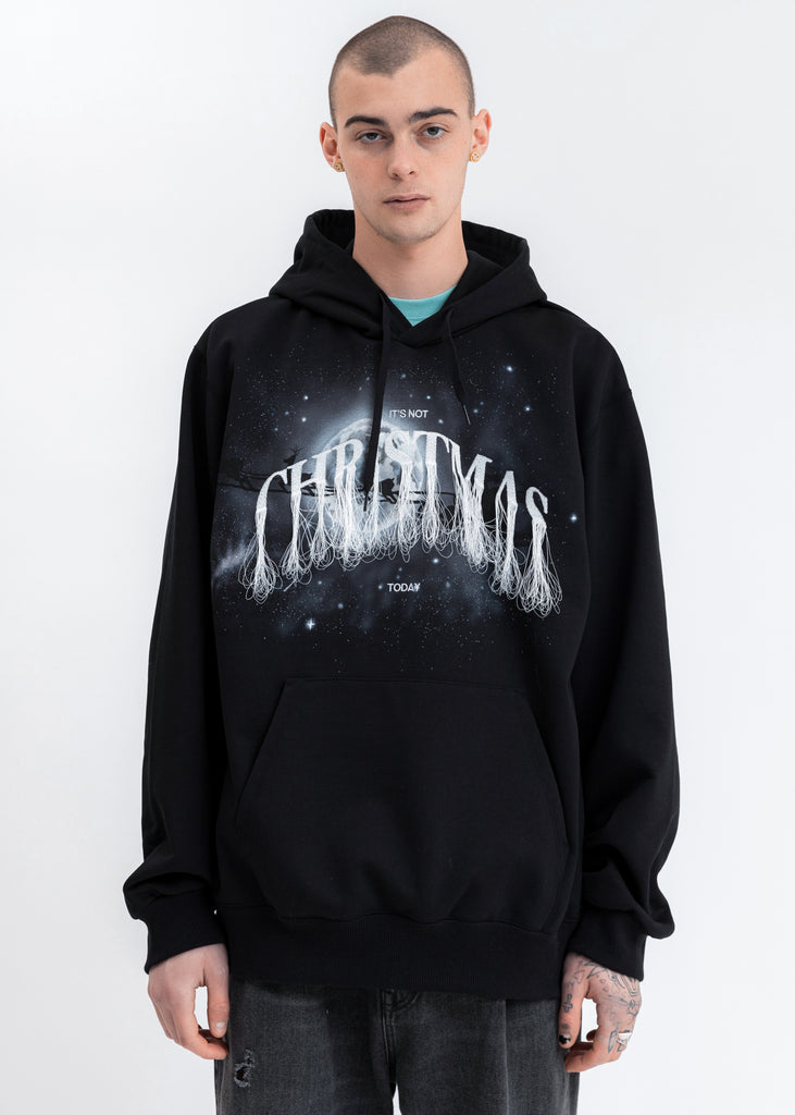 Black Not Christmas Embroidery Hoodie