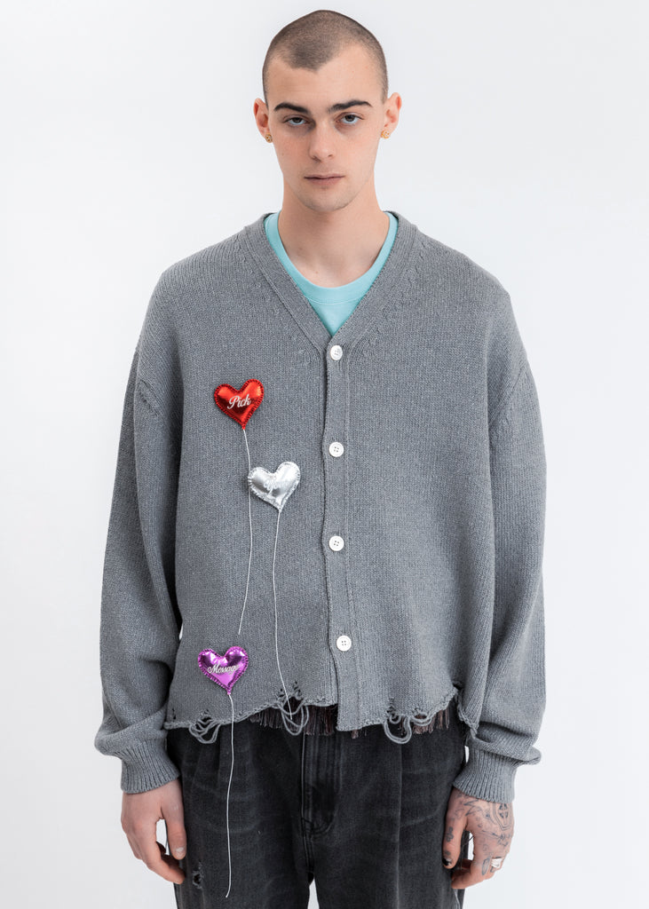 Grey Happy Balloons Cardigan
