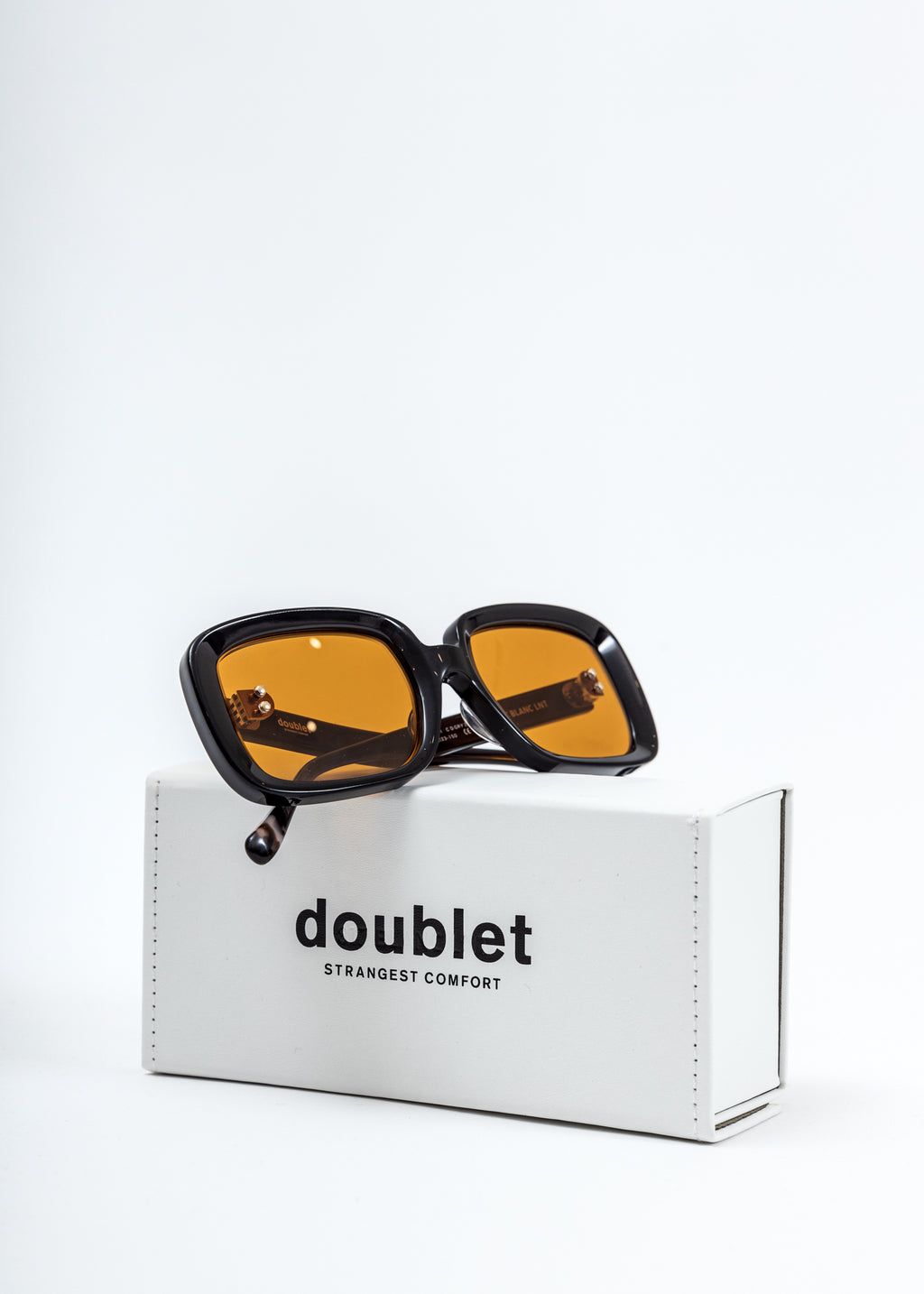Orange Square Flame Sunglasses