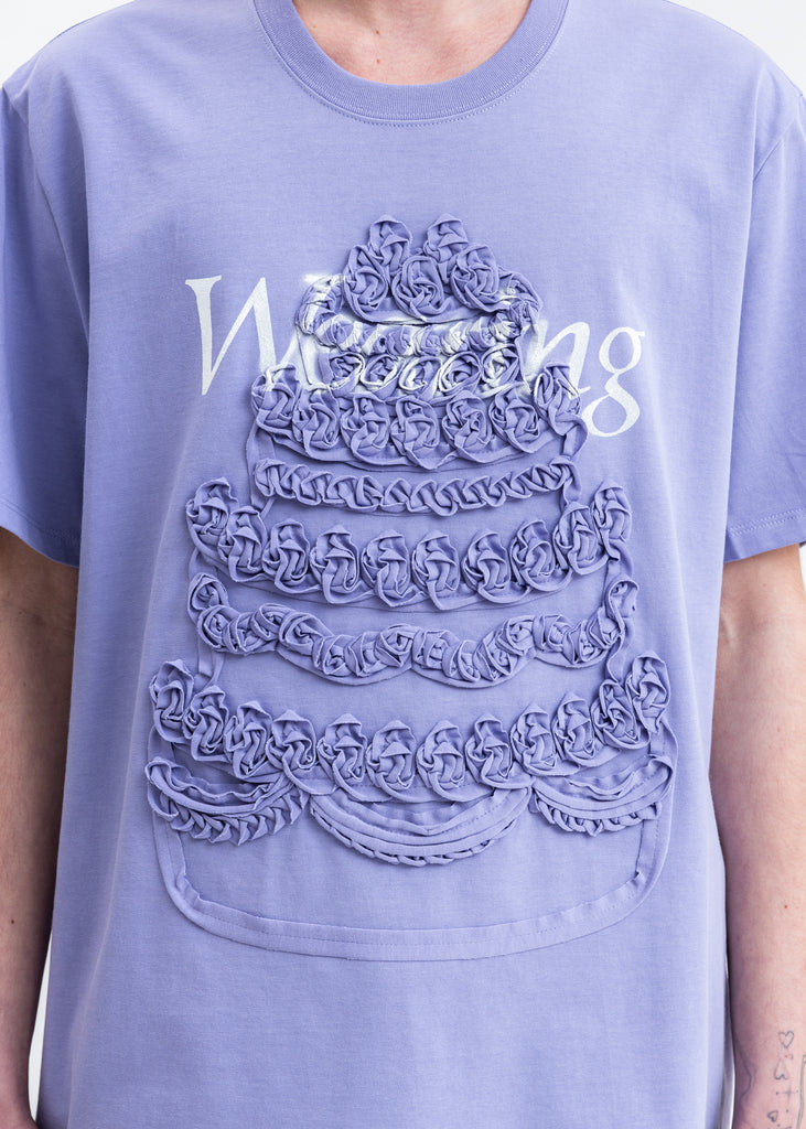 Purple Cake Embroidery T-Shirt