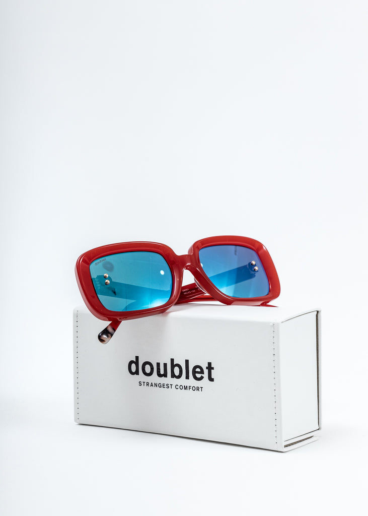 Red Square Flame Sunglasses
