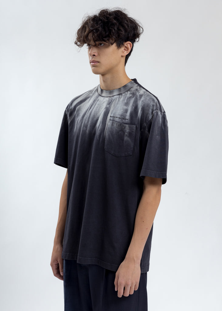 Black Tie Dye Contrast Stitch T-Shirt