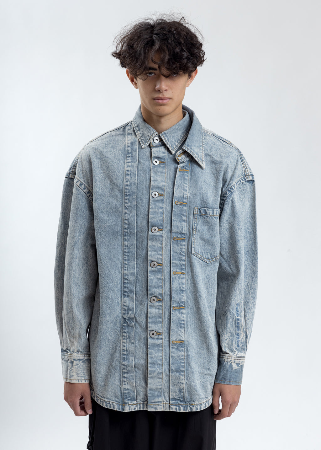 Blue Wash Denim Shirt
