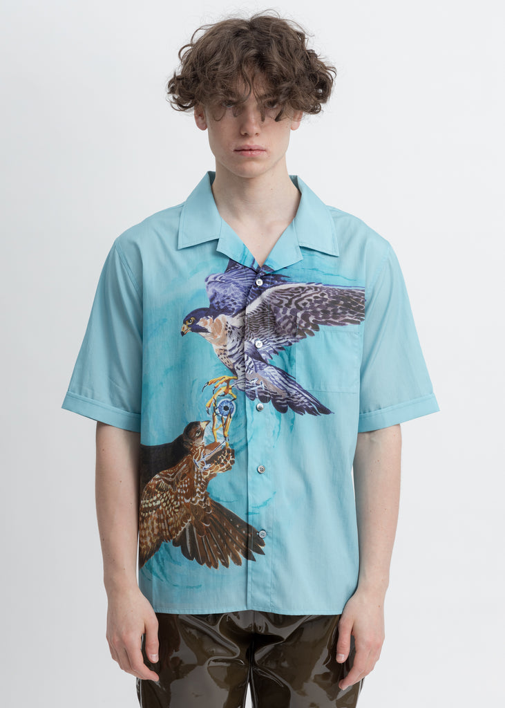 Blue Falcon Print Shirt