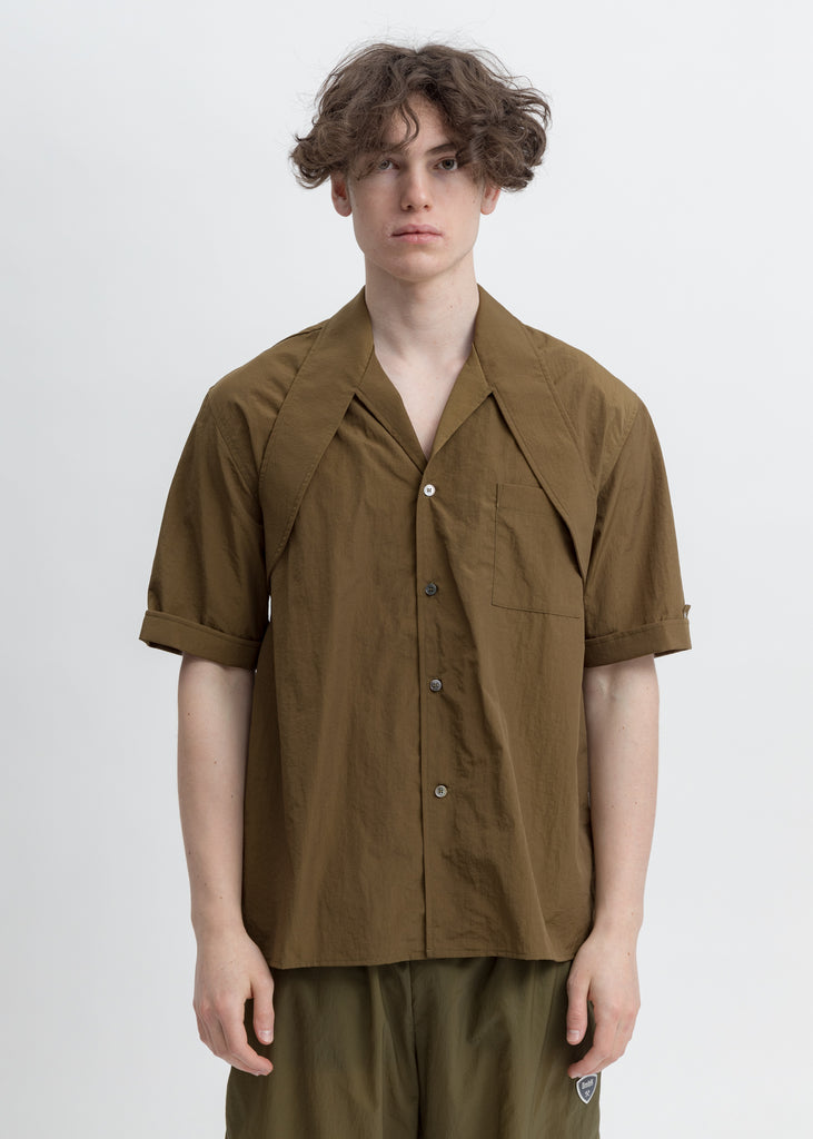 Khaki Shirt Wth Harness Collar And Belt