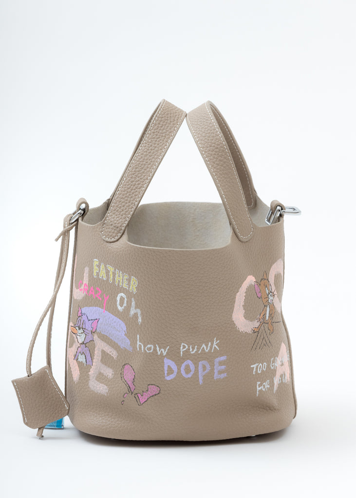 Beige Paint Cube Bag (Small)