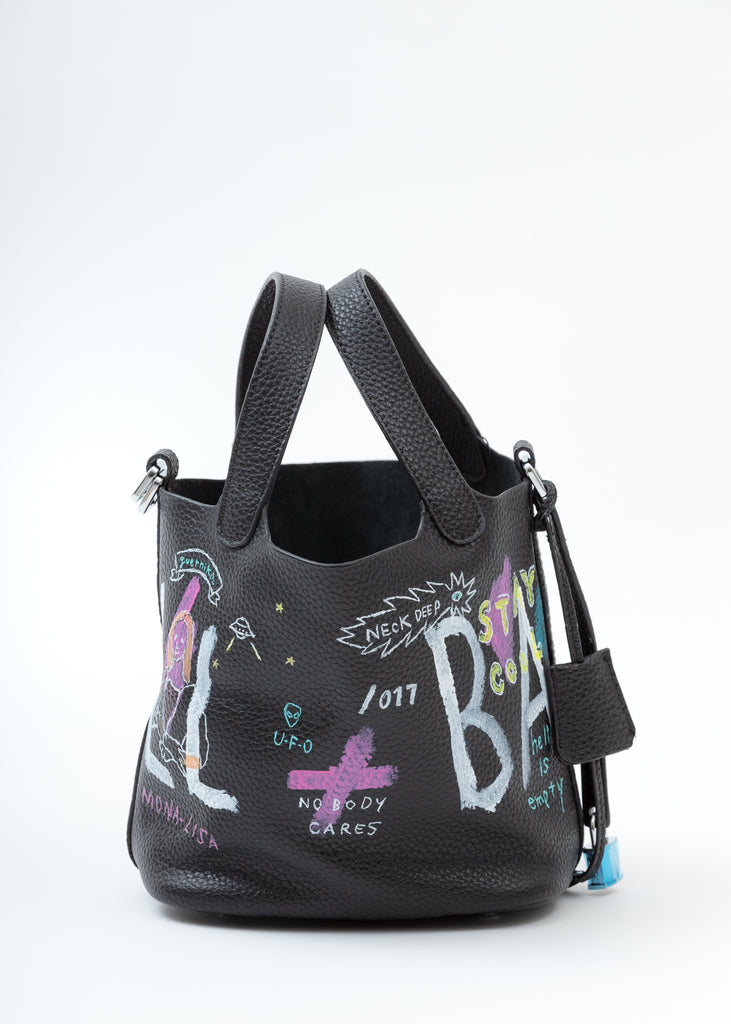 Black Paint Cube Bag (Small)