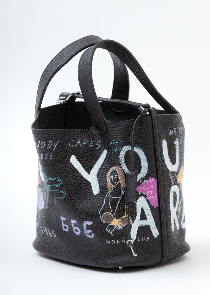 Black Paint Cube Bag (Large)
