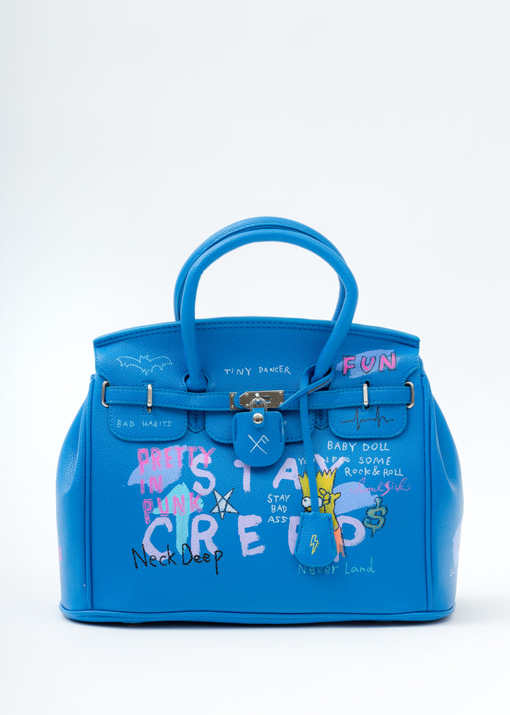 Blue Paint Anarchy Bag