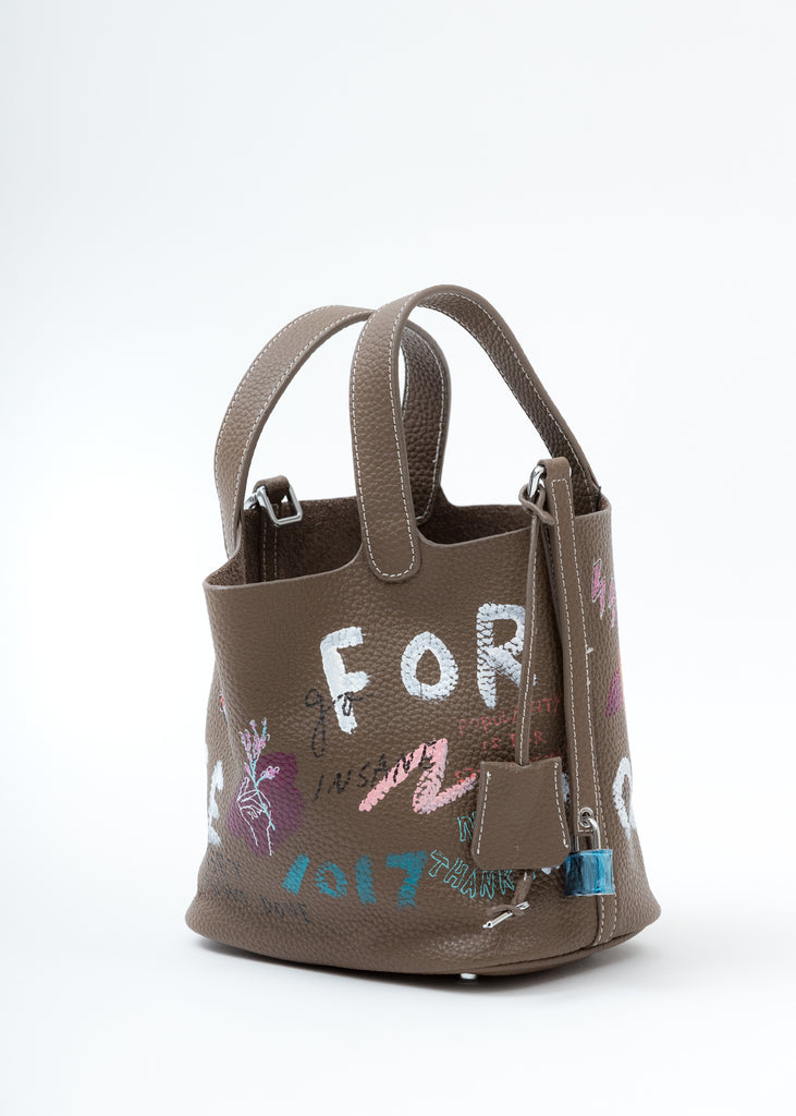 Brown Paint Cube Bag (Small)