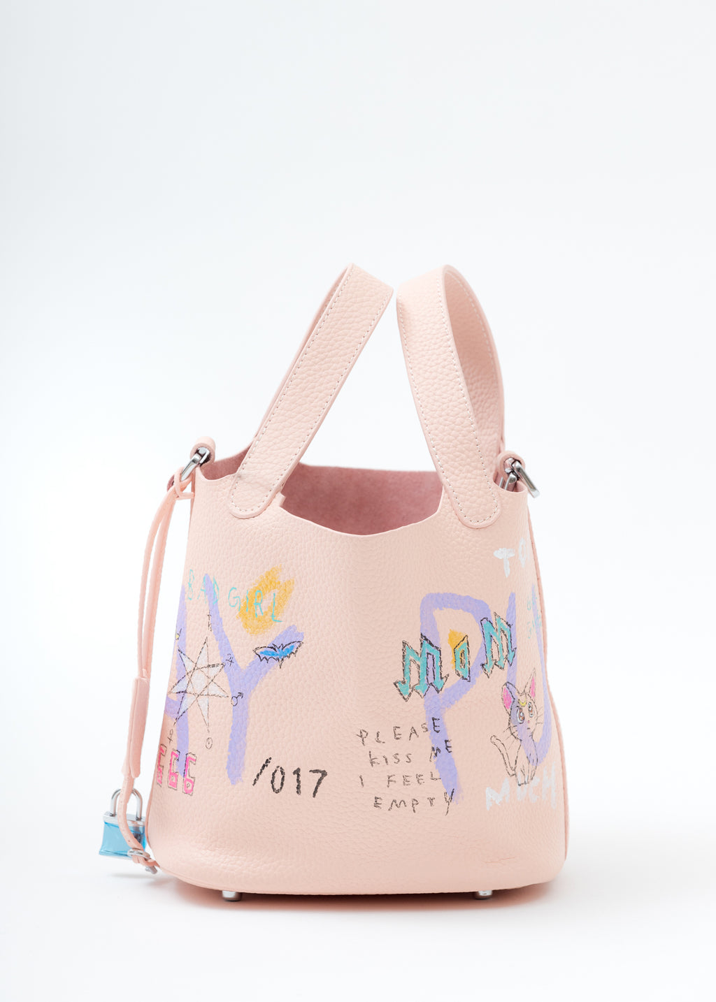 Pink Paint Cube Bag (Small)