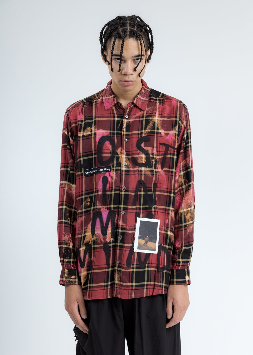 Red Paint Check Shirt