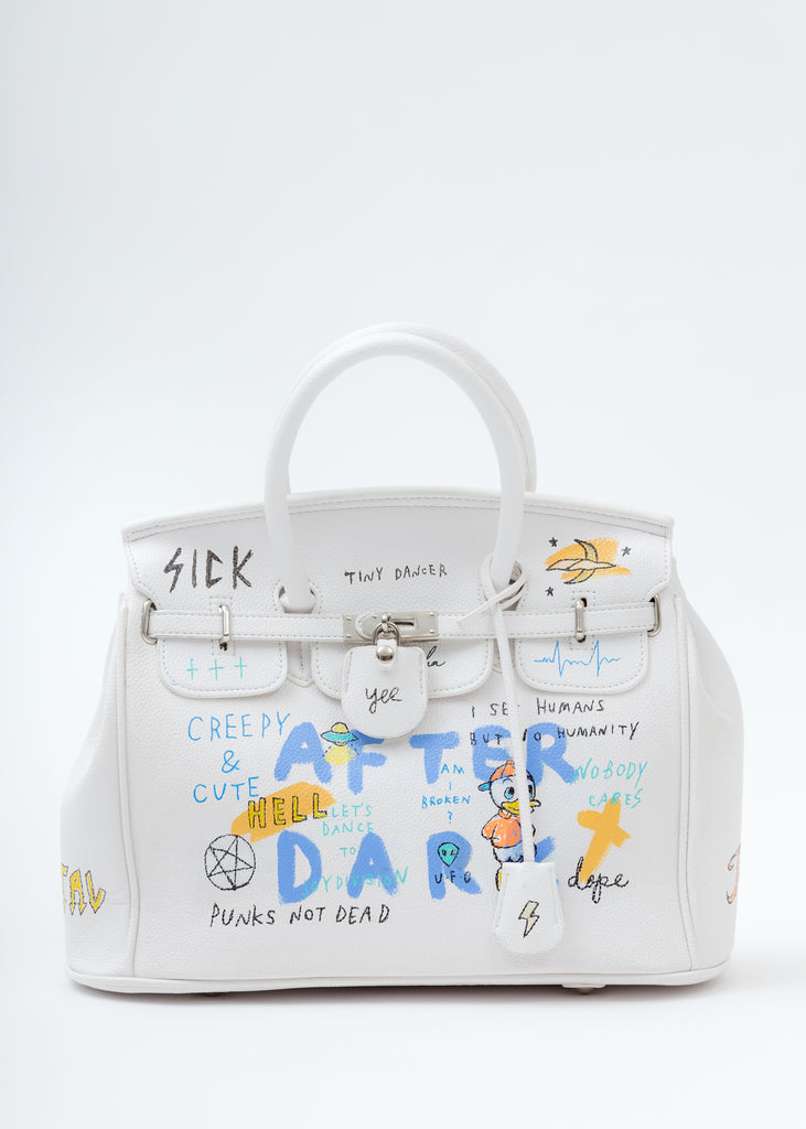 White Paint Anarchy Bag