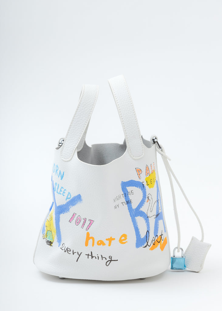 White Paint Cube Bag (Small)