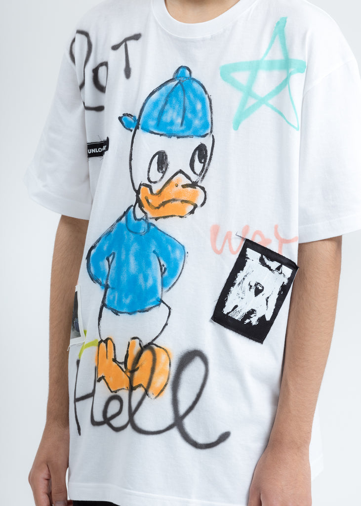 White Paint T-Shirt (Donald In Blue)