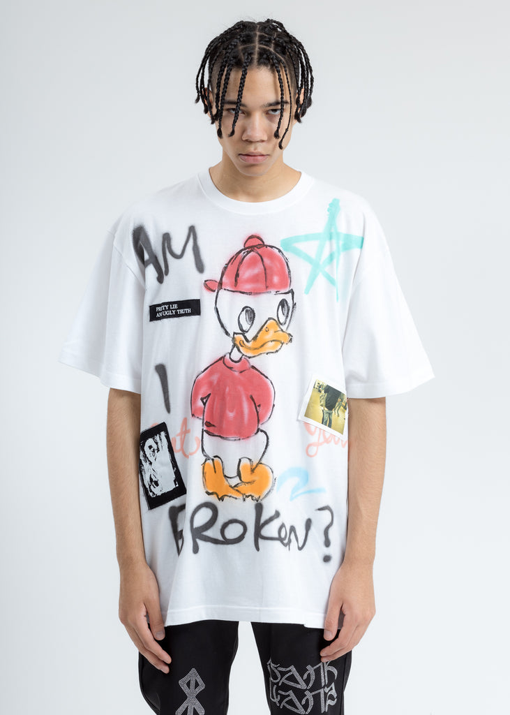 White Paint T-Shirt (Donald In Red)