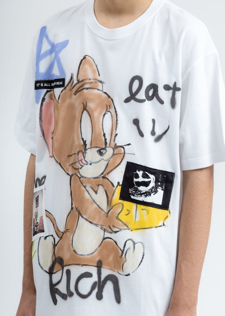 White Paint T-Shirt (Jerry)