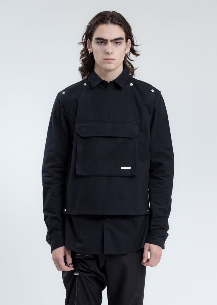Black Shirt with Removable Layers