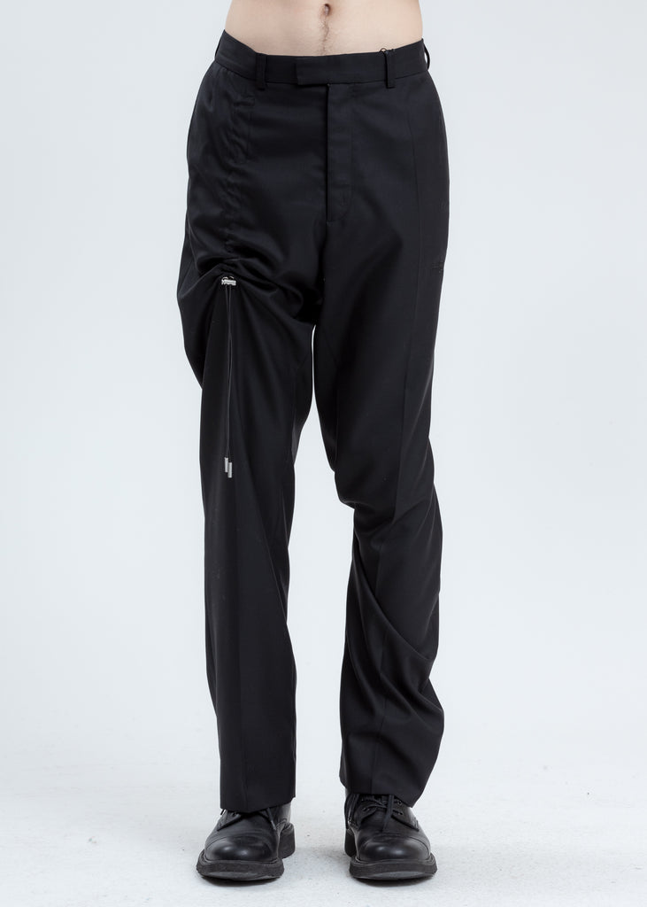 Black Tailoring Trousers with Drawstrings